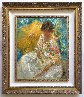 Dia En La Cala (Day in the Cove) 41x36 Super Huge Original Painting by  Royo - 1