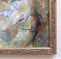Dia En La Cala (Day in the Cove) 41x36 Super Huge Original Painting by  Royo - 3