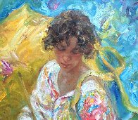 Dia En La Cala (Day in the Cove) 41x36 Super Huge Original Painting by  Royo - 2