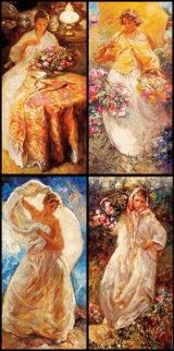 Four Seasons Suite of 4 PP Limited Edition Print by  Royo