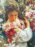 Primavera AP 1999 with book on panel Limited Edition Print by  Royo - 3