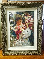 Primavera AP 1999 with book on panel Limited Edition Print by  Royo - 1