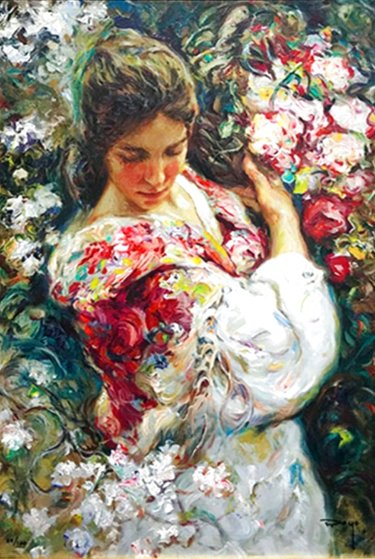 Primavera AP 1999 with book on panel Limited Edition Print by  Royo