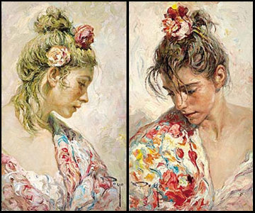 Shawl Suite of 2 on panel 1997 Limited Edition Print -  Royo
