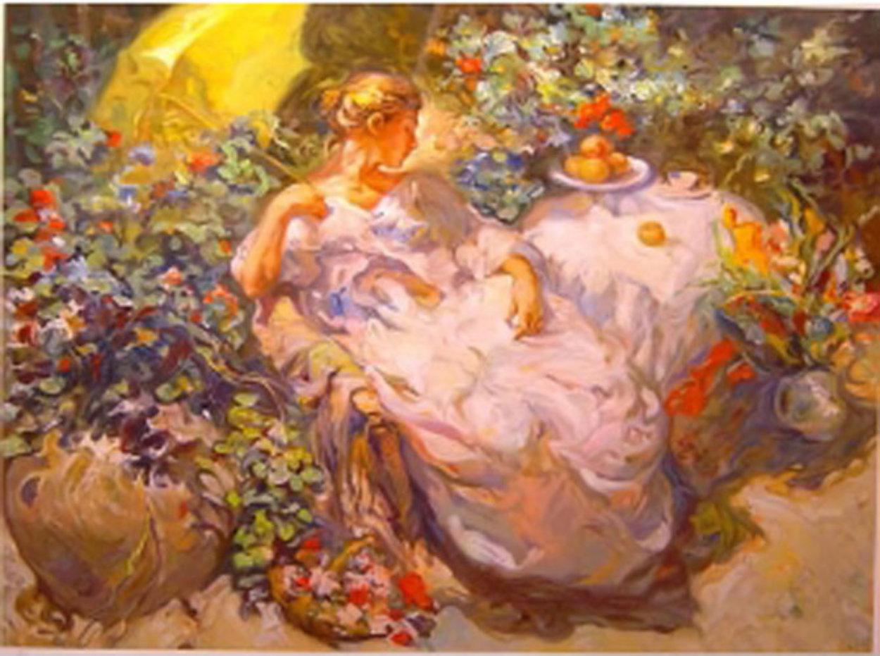 Sentada En El Jardin 1996 Limited Edition Print by  Royo