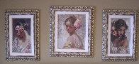 Adolescencia, Estudio, La Perla on clay panel Set of 3 Limited Edition Print by  Royo - 3