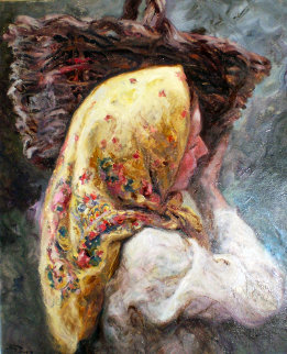 Margarita 1984 34x29 Original Painting by  Royo