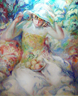 Fue Un Instante 39x34 Original Painting by  Royo