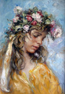 Floreal 31x24 Original Painting by  Royo