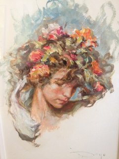 Untitled Painting 24x17 Original Painting by  Royo