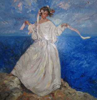 Daughter in White Dress 8x8 feet Mural Original Painting -  Royo