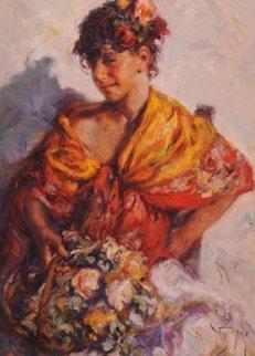 Gitanilla 1980 36x28 Original Painting -  Royo