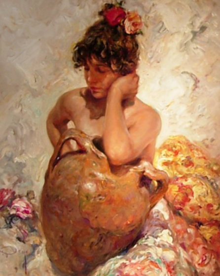La Tinaja 2000 40x34 Original Painting by  Royo