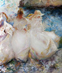 La Danza La Luz 1998 45x45 Original Painting -  Royo