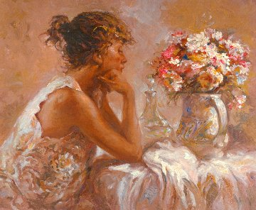 Pensativa 2000 on Panel Limited Edition Print by  Royo