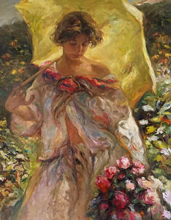 Lucia Paseando 1999 40x30 Original Painting by  Royo