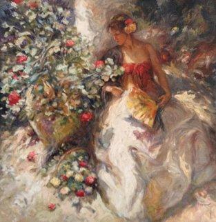 La Modelo de la Jardin 39x39 Original Painting -  Royo