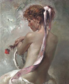 Rosa Y Nacar  on Panel 2008 Limited Edition Print -  Royo