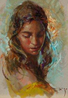 Maria 2000 12x8 Original Painting by  Royo