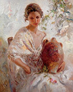 Presencia  2005 43x51 Original Painting by  Royo