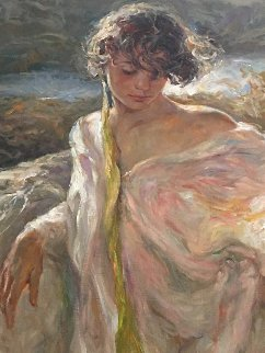 Dulzura (Sweetness) 2002 42x48 Huge Original Painting -  Royo