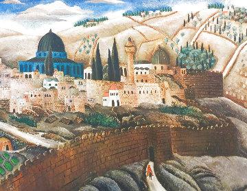 Jerusalem Limited Edition Print - Reuven Rubin