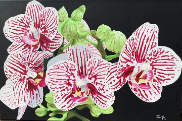 Orchids 2017 24x36 Original Painting by Ruben Ruiz