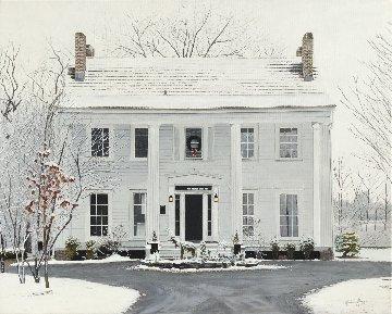 Biddle Mansion 2017 24x30 Original Painting by Ruben Ruiz
