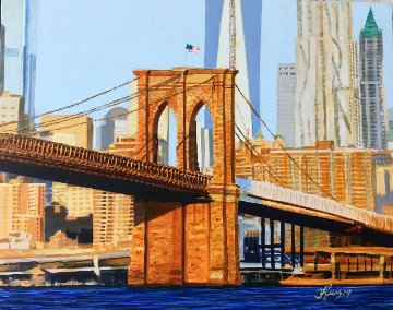 Golden Sunrise 2019 8x10 New York Original Painting - Ruben Ruiz