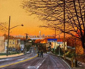 Blazing Sunset 2019 8x10 Original Painting by Ruben Ruiz