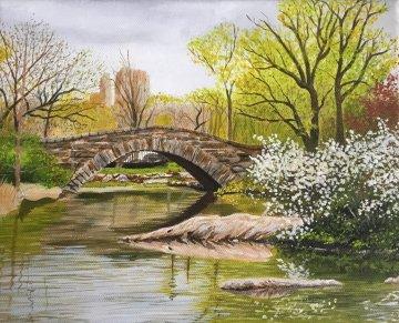Spring At Central Park 2019 8x10 Original Painting by Ruben Ruiz