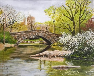 Spring At Central Park 2019 8x10 Original Painting - Ruben Ruiz