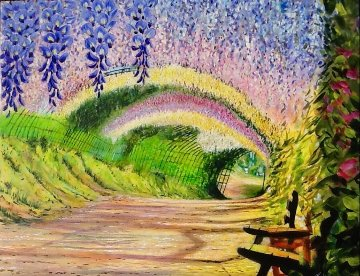 Wisteria Tunnel  2015 24x30 Original Painting - Ruben Ruiz