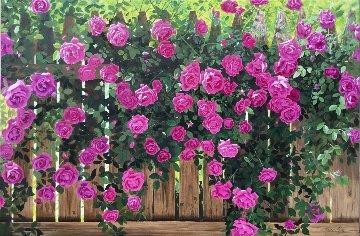 Summer Roses 2016 24x36 Original Painting - Ruben Ruiz