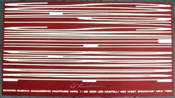 Anamorphic Painting 1995 Limited Edition Print by Edward Ruscha