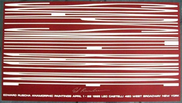 Anamorphic Painting 1995 HS  Limited Edition Print by Edward Ruscha