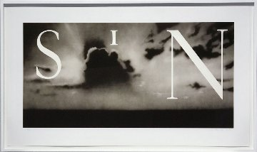 Sin / without  2002 Limited Edition Print - Edward Ruscha