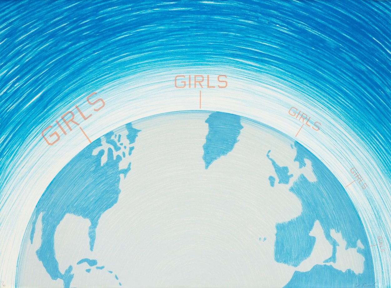 Girls, From World Series 1982  Limited Edition Print by Edward Ruscha