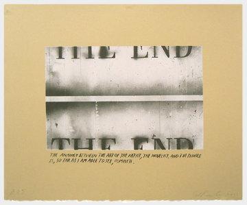 The End State I (Unique Pettibon edition) Limited Edition Print - Edward Ruscha