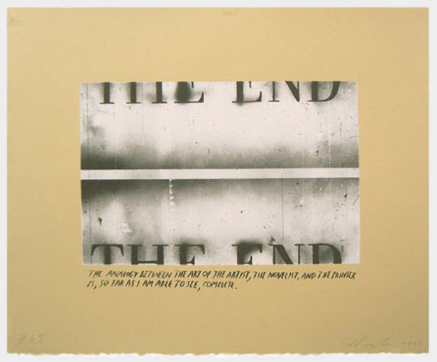 The End State I (Unique Pettibon edition) Limited Edition Print by Edward Ruscha