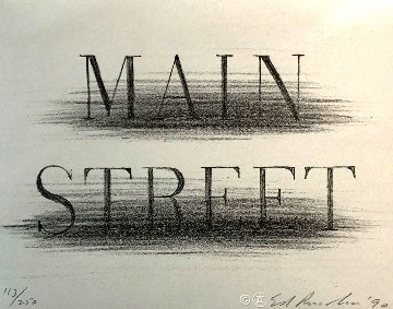 Main Street 1990 Limited Edition Print - Edward Ruscha