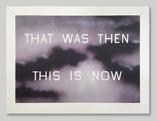 That Was Then This is Now Limited Edition Print by Edward Ruscha