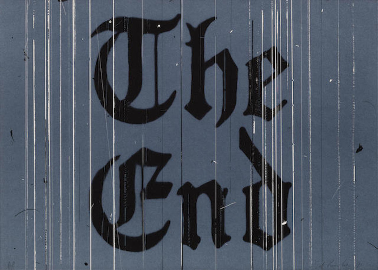 The End Limited Edition Print by Edward Ruscha