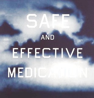 Safe And Effective Medication CTP 2001 Limited Edition Print - Edward Ruscha