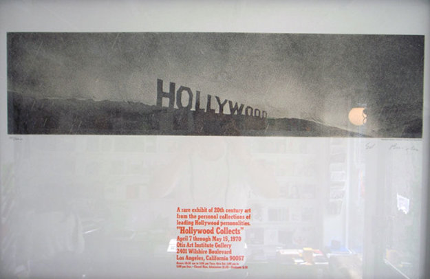 Hollywood in the Rain, Hollwood Collects Limited Edition Print by Edward Ruscha