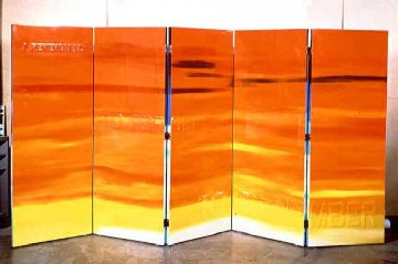 RARE Double sided Wood Screen M 57 Elvis (Based on an Elvis Song) Limited Edition Print by Edward Ruscha