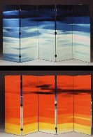 RARE Double sided Wood Screen M 57 Elvis (Based on an Elvis Song) Limited Edition Print by Edward Ruscha - 1