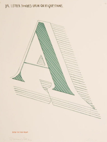 Arts and Letters State I Limited Edition Print by Edward Ruscha