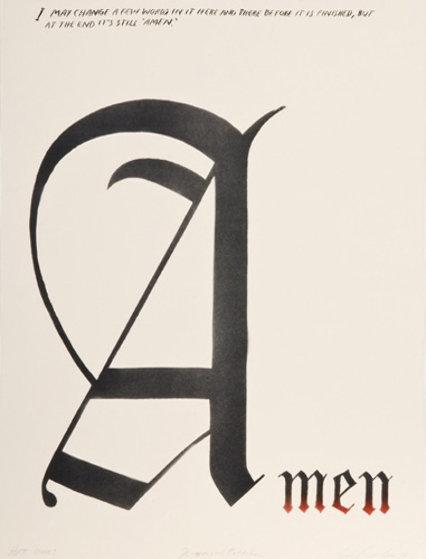 Amen State I (text by Ramond Pettibon) 2009 Limited Edition Print by Edward Ruscha