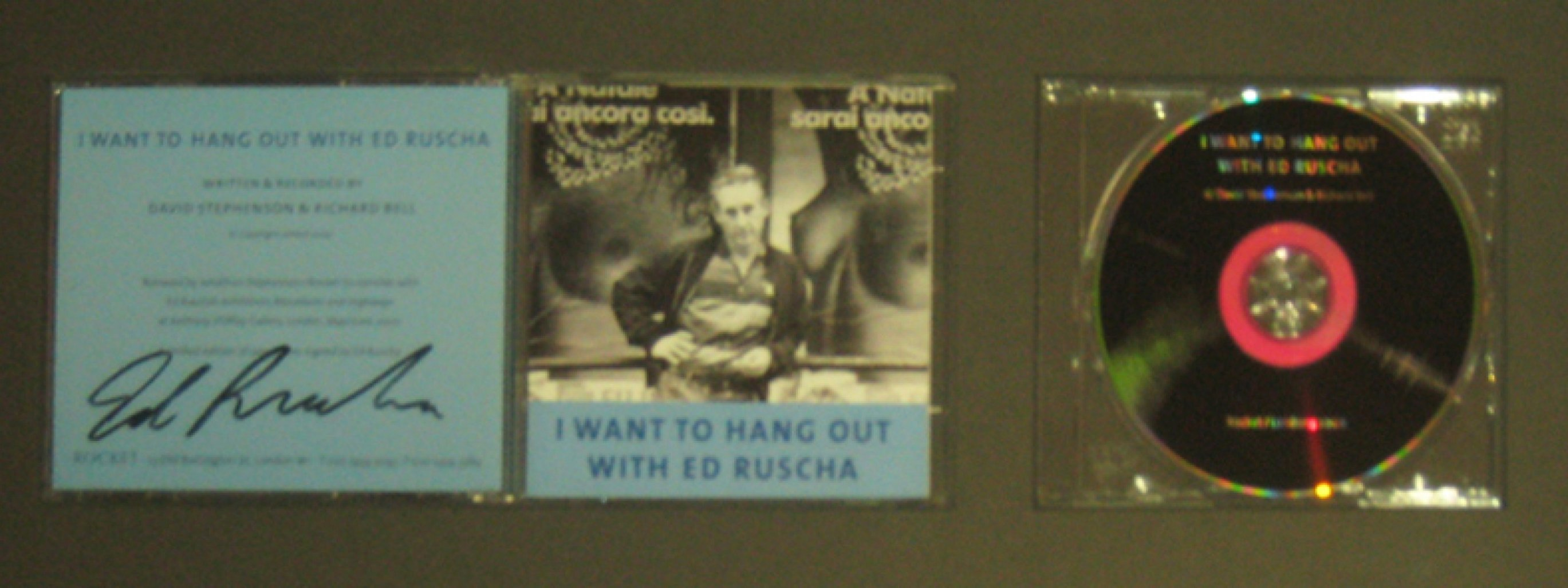 I Want To Hang Out With Ed Ruscha- Photo Booklet with CD  (In CD Case),. Other by Edward Ruscha
